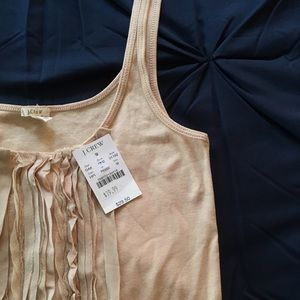 Medium J Crew Light Pink Nude Silk Sleeveless Tank